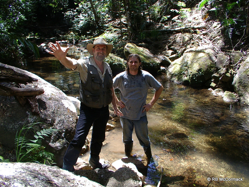 Rob and Jason surveying Davies Creek